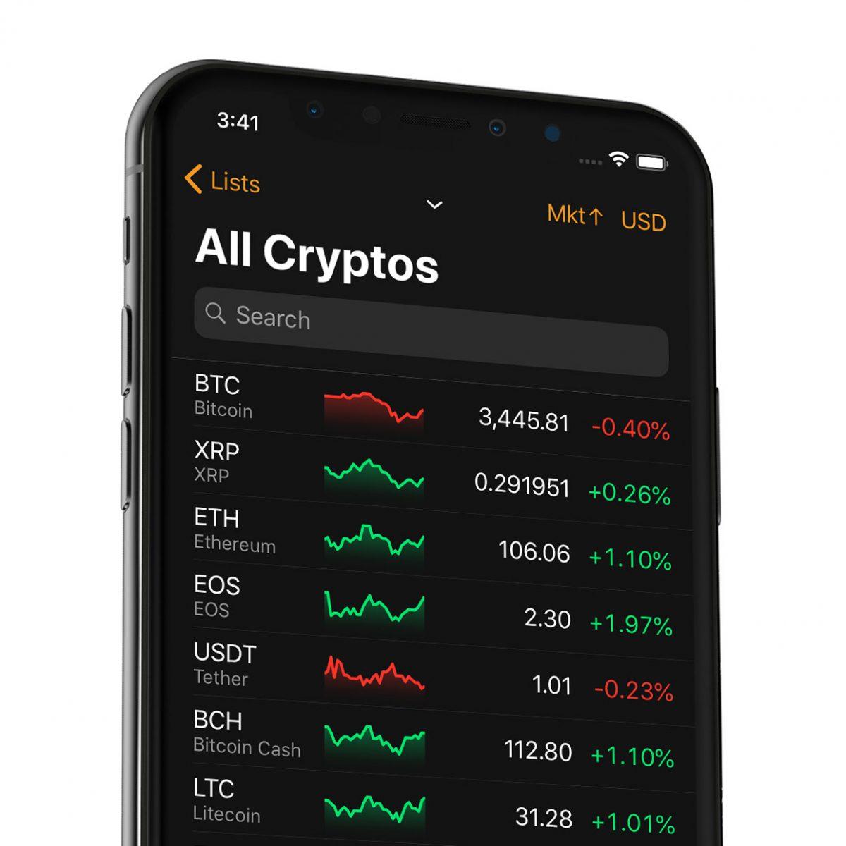 bitcoin di trading mobile app