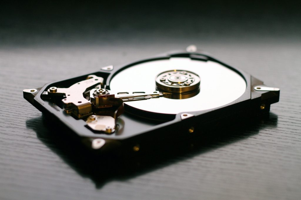 Picture of a hard drive.