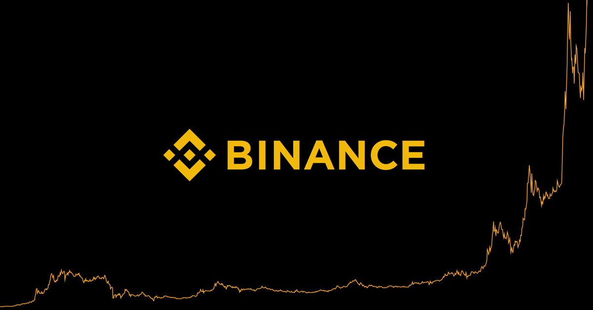 Image of Binance logo with BNB chart behind