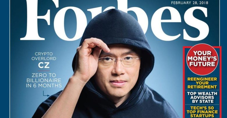 Image of Forbes cover of Changpeng Zhao, AKA CZ of Binance