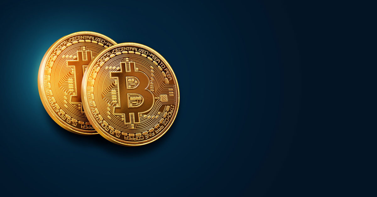 image showing two bitcoins