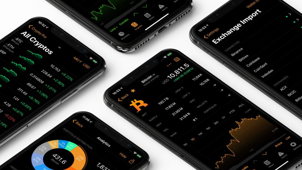 Image of Crypto Pro, a private cryptocurrency portfolio tracker