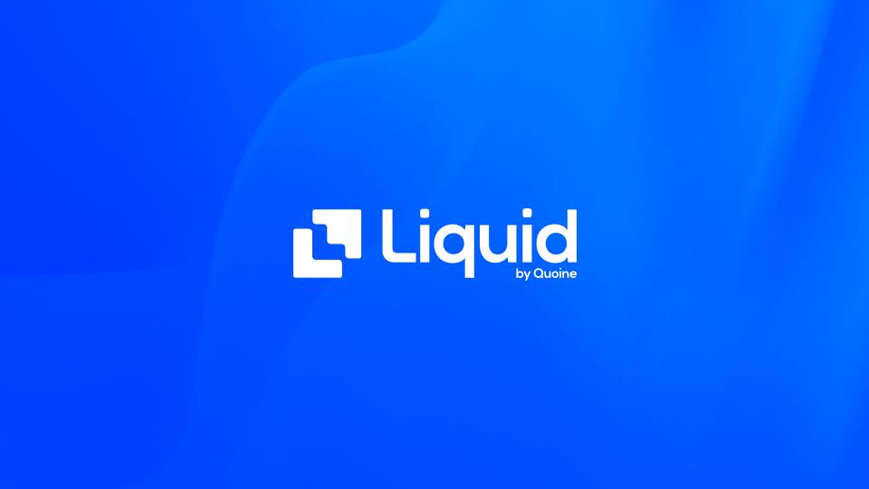Liquid Exchange Logo on a blue background