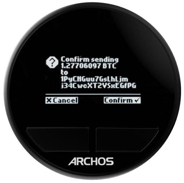 image or archos safe-t crypto wallet