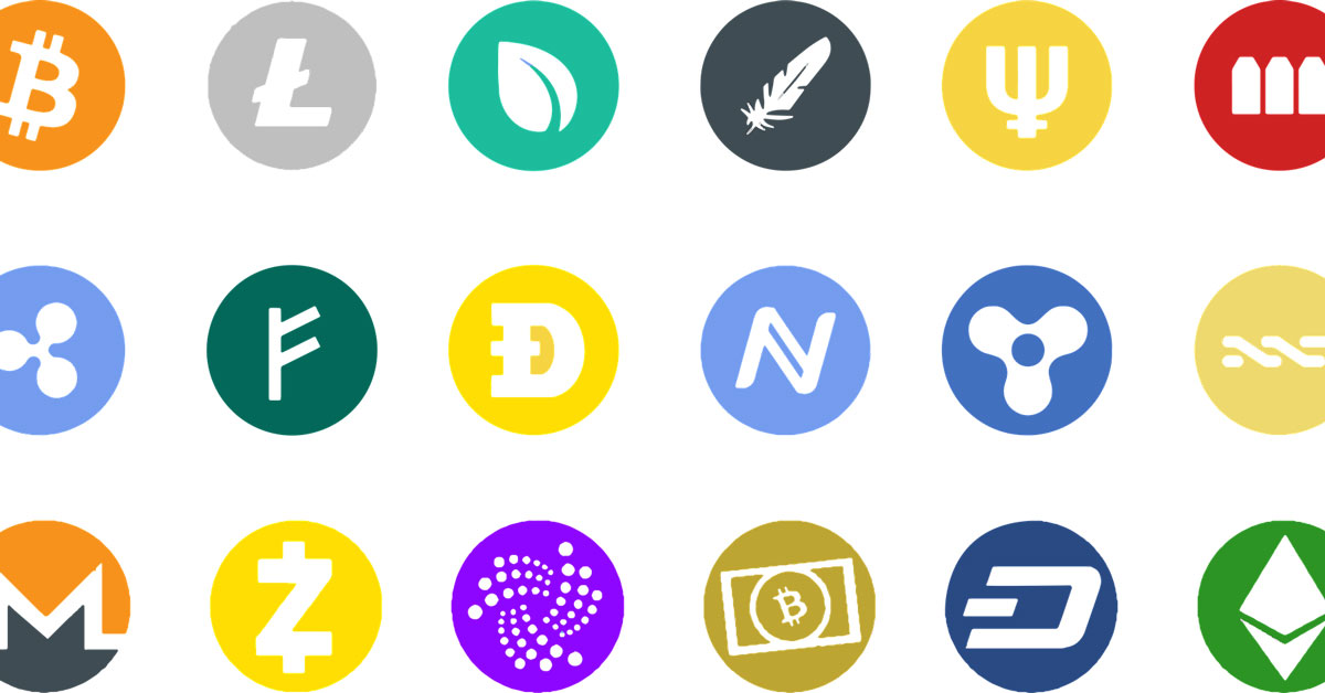 Image of different altcoins