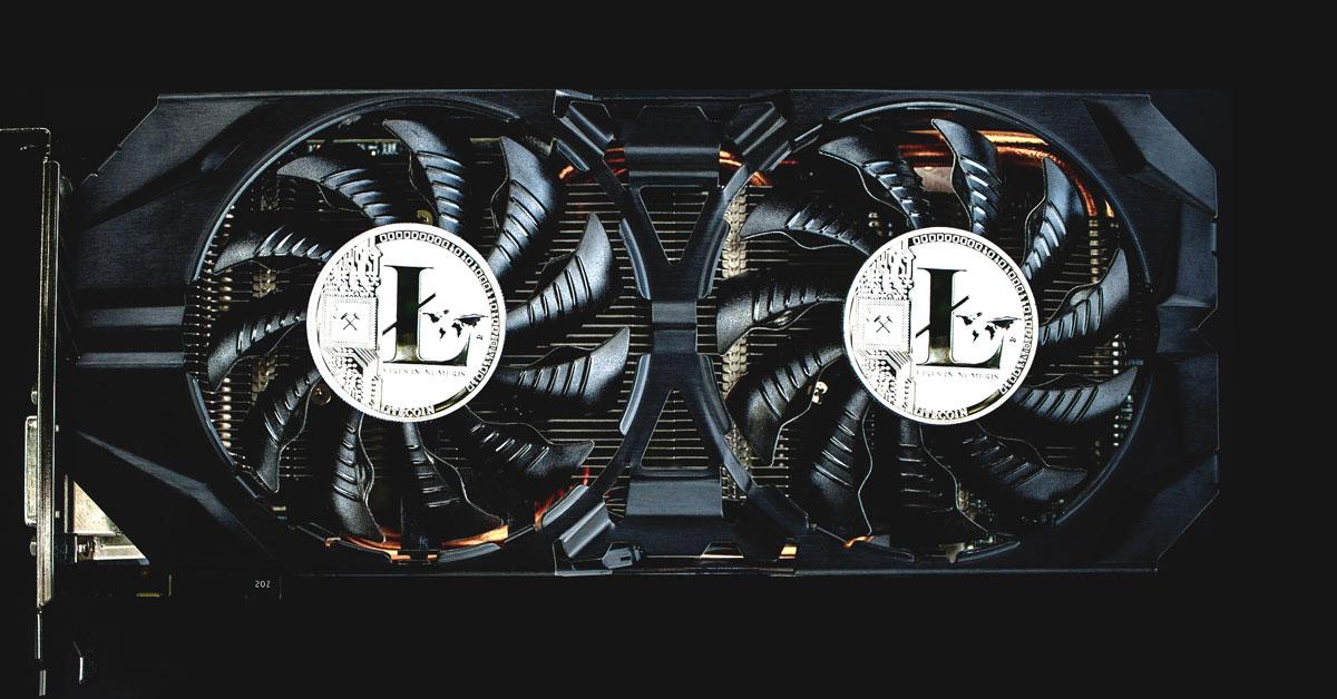 Litecoin Mining Rig showing 2 litecoins