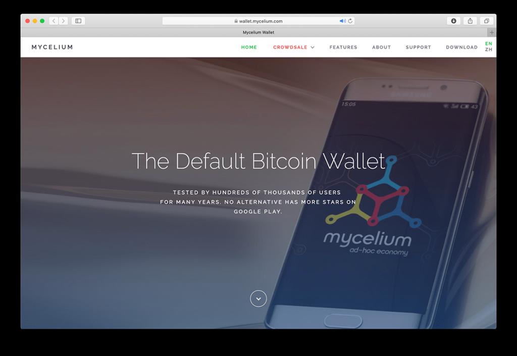 A screenshot of Mycelium's website