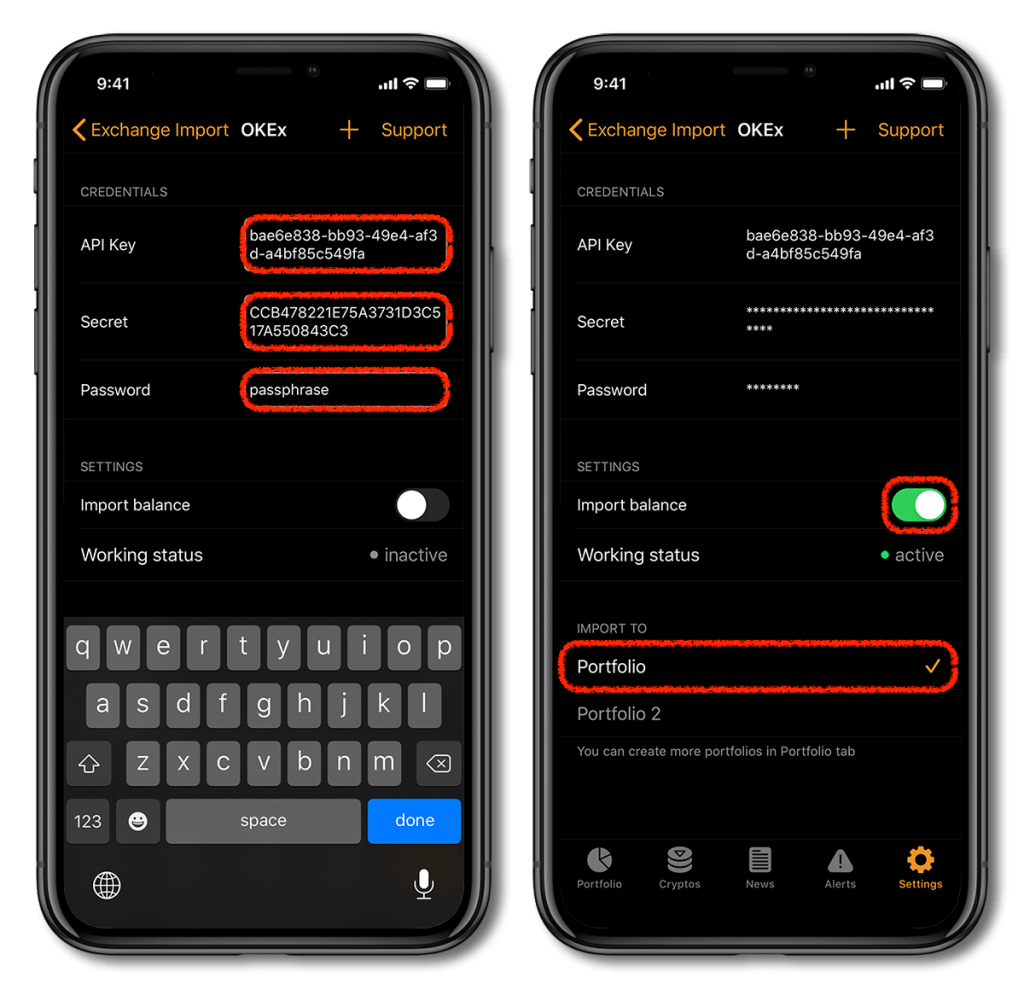OKEx API exchange connection with Crypto Pro