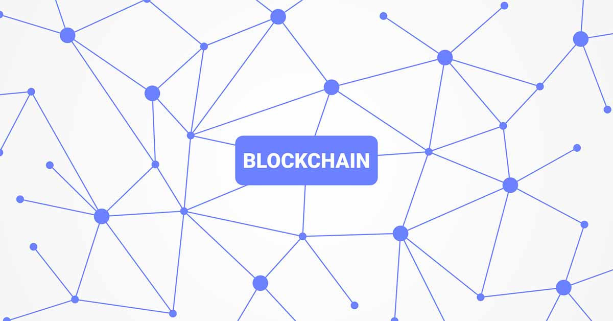 An image of a blockchain network