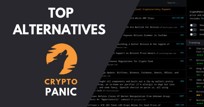 Cryptopanic logo and website