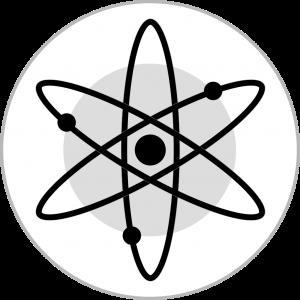 Logo of Atom in black