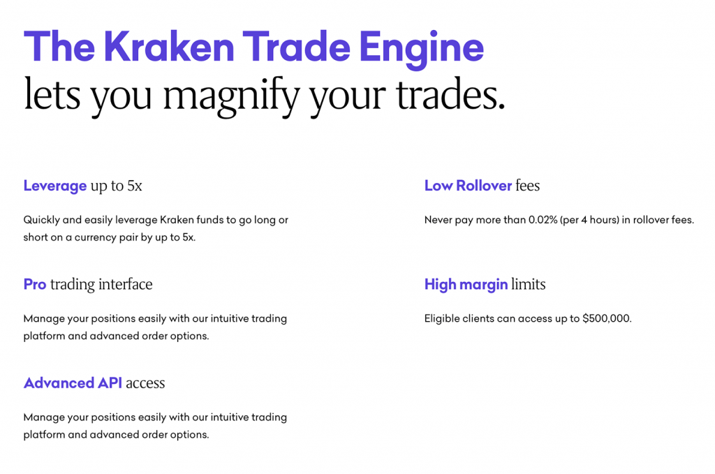 Screenshot showing trading engine features