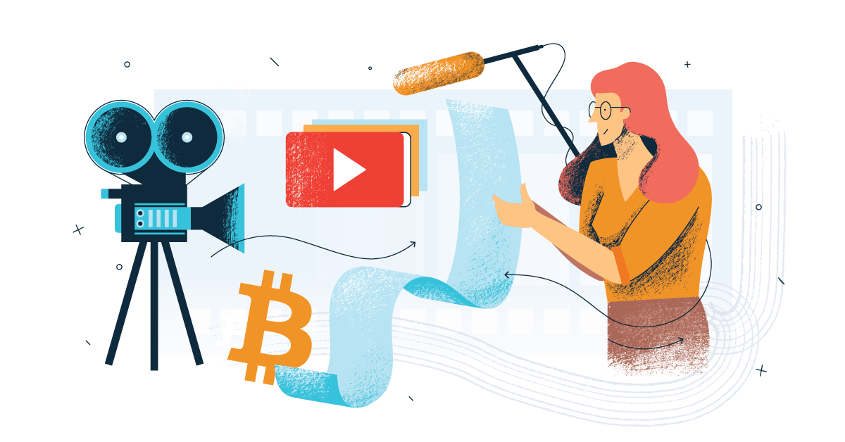 A cryptocurrency influencer being recording a video for YouTube.