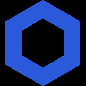 Chainlink logo in blue