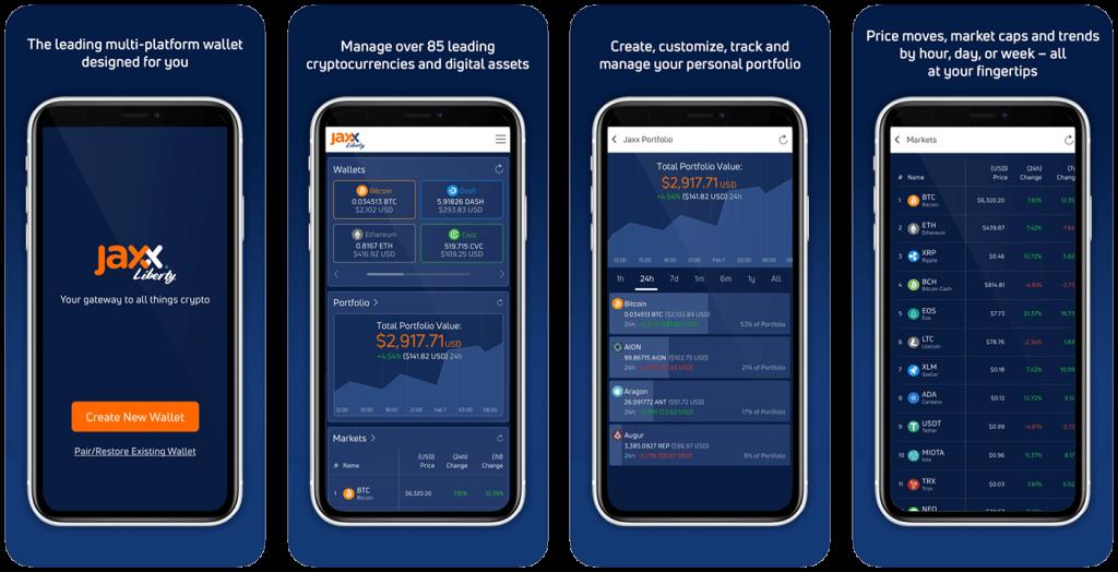 App store image for Jaxx Bitcoin iOS wallet