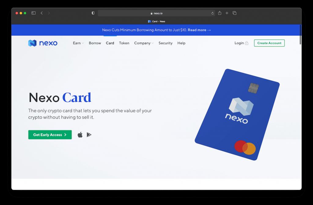 nexo cryptocurrency debit card